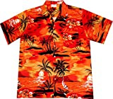 "Hawaiihemd/Hawaii Hemd ""Evening on Hawaii"", 100% Baumwolle, Größe M – 6XL"