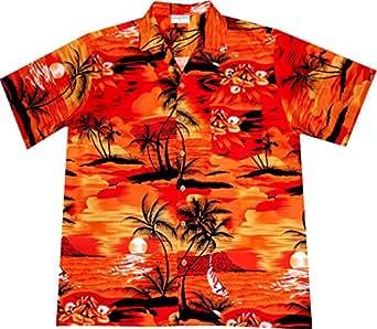 "Hawaiihemd ""Dark Evening on Hawaii"" in Größe L"