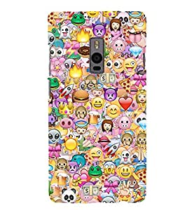 Fuson Premium Back Case Cover Crazy pattern With Multi Background Degined For One Plus Two::One Plus 2::One+2