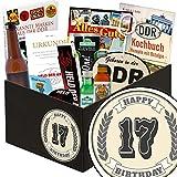 17. Geburtstagsgeschenk | Männer Box | inkl Markenbuch | 17er Jahrestag Beziehung | mit Bier, Kondomen und mehr