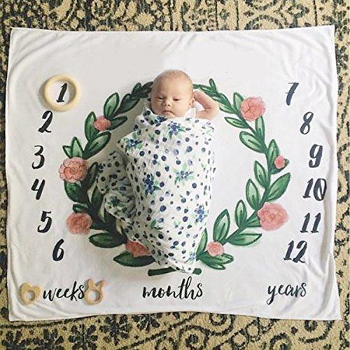 Neugeborenes Baby-Meilenstein-Decke, Baby-Geburtstags-Fotografie-Foto-Stützen Swaddle-Decke, Oenbopo-Baby-monatliche Meilenstein-Fotografie Stützen schießt Kulisse Tuch 39.38 '' X39.38 ''