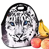 Cute Cheetah Insulated Lunch Tote Bag Cooler Box Neoprene lunchbox Carrying baby bag