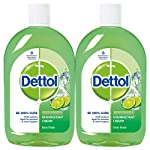 Dettol Disinfectant Cleaner for Home, Lime Fresh – 500 ml(Pack of 2)