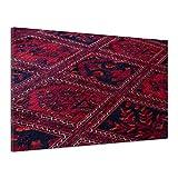 Teppich Rot Knüpfen Wolle Teppichknüpferei Leinwand Poster Druck Bild vv1895 80x60