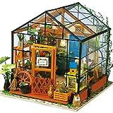 Upxiang DIY Holz Möbel Haus Kreative Handwerk Miniatur Box 3D Puzzle Kinder Spielzeug Weihnachtsgeschenk Wohnkultur (A)