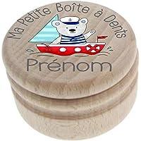 Boite à Dents de Lait en bois - Made in France - Personnalisée avec le prénom de l'enfant + Texte personnalisable…