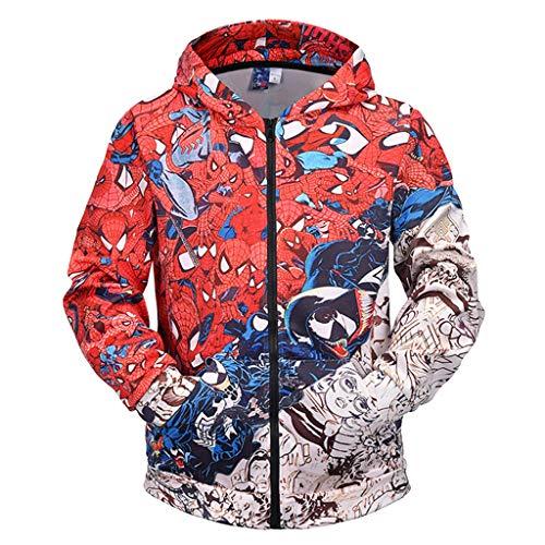Paar Heißes Thema Kostüm - kksun Frühling Herbst Hoodie 3D gedruckt Sweatshirt mit Taschen für Paar Liebhaber lustige Bluse Plus Size für den Winter,Red-M