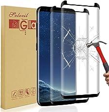 Solocil 2 Stück Galaxy S8 Plus Schutzfolie, 3D 9H Härtegrad HD Ultra Klar Anti-Kratzer Panzerglasfolie Displayschutzfolie Displayschutz für Samsung Galaxy S8 Plus