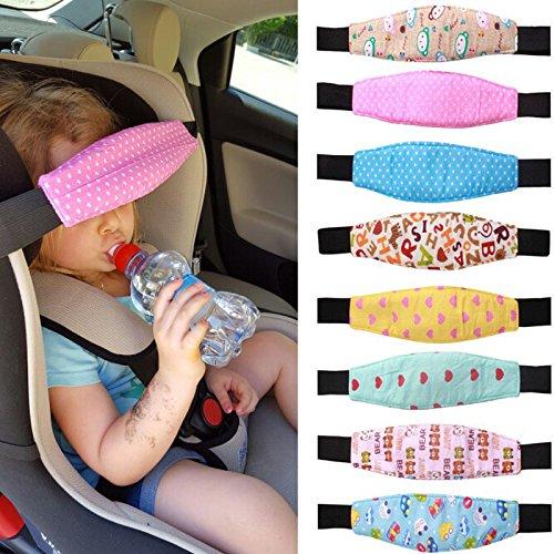 Preisvergleich Produktbild Baby Autositz Kopfstütze, verstellbare Kleinkind Schlafsack Positionierer Hals Relief Gürtel–zufällige Muster