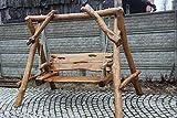 Rustikale Gartenschaukel aus Massivholz - handgefertigt aus Naturholz