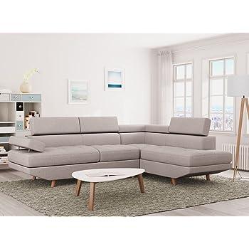 Mobilier Deco Canape D Angle Design Blanc 6 Places Angle Droit