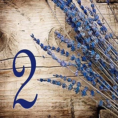 Faience Azul - Numéro de rue en faience – 10,8x10,8x0,5cm