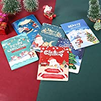 AIYANG Christmas AR Dynamic Video Stereo Merry Christmas Postcards Xmas Greeting Cards with Envelopes for Business and Personal Use (6 Designs)