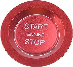 Citall 2pcs Set Motor Start Stop Stop Zündschalter Druckknopfabdeckung Ring Trimmung Aufkleber Rot Auto