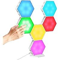 Lumière hexagonale, Panneau LED mural Lumière DIY, USB Splicing Light, RVB 9 Couleur Toucher Lampe de bureau, DIY…
