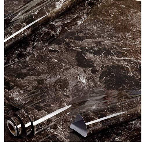 Amao Schwarz Braun Granit Optik Marmor Effekt Kontakt, Papier, Folie, Vinyl, Selbstklebend, Peel-Stick Counter Top 61x 200,7cm - Schwarze Granit-küche Top