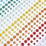 eBoot Acryl Schmucksteine, Strasssteine 900 Stück 3mm 4mm 5mm Bunten Strass Aufkleber Blatt -