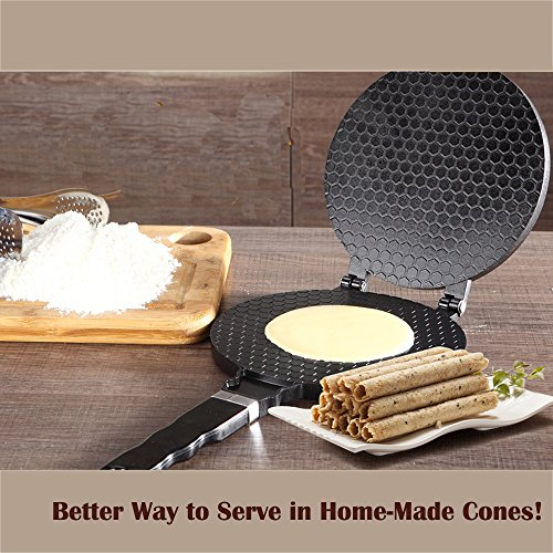61WmJwuN9aL. SS500  - TAMUME Ice Cream Waffle Cone Maker Ice Cream Cone Pan Crêpe Maker Crispy Omelette Pan for Omelette Mould and Ice Cream…