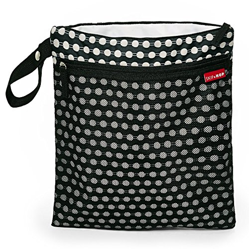 Skip Hop Grab & Go Wet/Dry bolsa de pañales negro negro/blanco