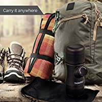 KitchenPROP Mini Portable Handheld Espresso Machine Coffee Maker with Carrying Bag Portable for Home, Office, Travel, Outdoor, Camping, No Battery or Electricity Required
