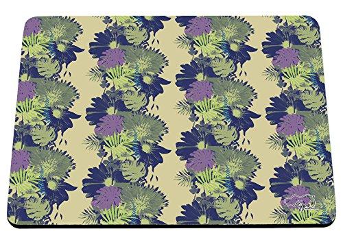 hippowarehouse Tropical Damast Tapete Print bedruckt Mauspad Zubehör Schwarz Gummi Boden 240mm x 190mm x 60mm, blau/grün, Einheitsgröße Bush Stift