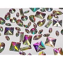 50 x RESINA AURORA BOREAL (AB) TRANSPARENTE Para Coser, Bordado, Adhesivo PEDRERÍA Pedrería Cristales MANUALIDADES - Mixed