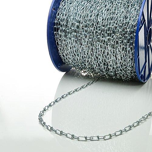 [DQ-PP] KNOTENKETTE 1,4mm DIN 5686-1m Knotenkette Dekokette Zierkette Gartenkette - DIN Stahl VERZINKT Gliederkette Lampenkette Kette Deko Garten