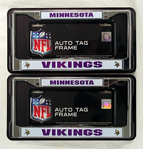 Minnesota Vikings Chrome License Plate Frame by Rico