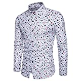 Manadlian T-Shirt Hommes,Chemise Homme, Chemise Manches Longues Unie Homme...