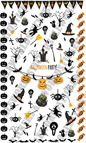 Aws foglietto 6x10 cm nail art halloween party water decals unghie adesivi spider strega witch sheet stickers transfer pipistrelli dolcetto scherzetto trick or treat zucca
