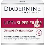 Diadermine Crema de Día Lift+ Super Rellenador, con Micro Cápuslas de Ácido Hialurónico, para Pieles Maduras, Acción Antiarru
