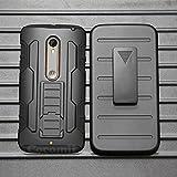 Cocomii Robot Armor Motorola Moto X Style/Moto X Pure Edition/Moto X3 Hülle [Strapazierfähig] Gürtelclip Ständer Stoßfest [Heer Verteidiger] Case Schutzhülle for Moto X Style (R.Black)
