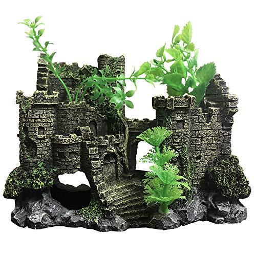 SLOME Castillo Resina Medieval decoración Acuario