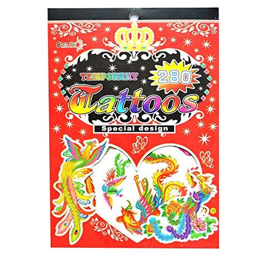Gifts 4 All Occasions Limited SHATCHI-1011 No. 15 - Bolsa de tatuajes temporales para fiestas, impermeable, no tóxica, pegatina para niños, multicolor