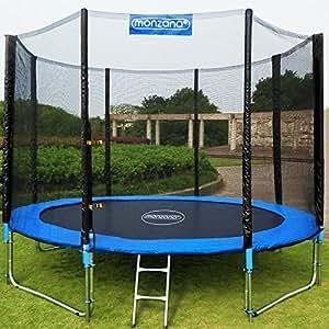 10ft trampoline with safety net enclosure entrance door ladder outdoor trampoline jumping. Black Bedroom Furniture Sets. Home Design Ideas
