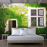 Leegt 3D Tapete Wallpaper Mural Benutzerdefinierte Fototapete Wandbild Boston Efeu Fenster Wand Hintergrund Mauer Cafe Restaurant Hintergrund Wanddekoration Wandbild Tapeten 200cmX150cm