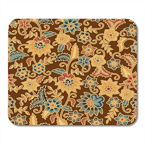 Java-batiken (Mauspad/Mauspad, Motiv: Java Batik, abstrakte Kultur, ostmodisches indonesisches Mauspad, 24,1 x 20,1 cm, für Notebooks, Desktop-Computer, Zubehör, Mini Bürobedarf)