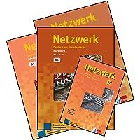 Netzwerk B1 Textbook + Workbook + Glossar + Intensivtrainer with CD (4 Book Set)