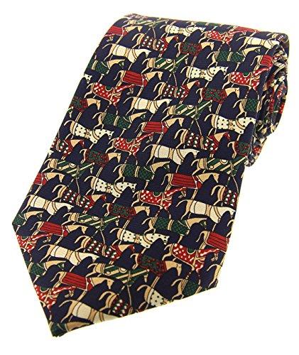 Sopran Marineblau tjost Mittelalter Pferde Country Krawatte aus Seide (Mittelalterliche Kostüm Für Pferde)