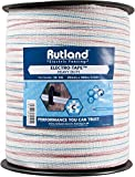 Rutland 30-145R Elektrozaun-Band, 20 mm, weiß mit rot und blau