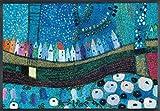 Wash&Dry 078449 Stadt in Blau Fußmatte Acryl 75 x 120 x 0.7 cm, bunt