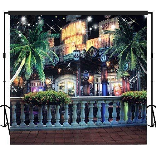 Musykrafties Fotografie Hintergrund Hintergrund Party Wand Foto Booth Requisiten 10x10ft - #1621 Highway 66 Michelin Restaurant