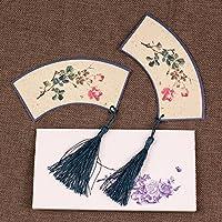 MEICHEN-Stile cinese retrò di forma classica antica bellissimo regalo creativo Preferiti un segnalibro nappe,Acquerello rose