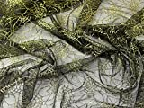 Spinnennetz Netz Stoff, Meterware, goldfarben