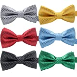 hollihi Handarbeit Liebenswürdig, PET Bow Ties – 6er Pack verstellbar Polka Dots Bowties Hundehalsband Krawatten Kitty Puppy Pflege Zubehör für Doggy Katze, Halsumfang 25–45 cm