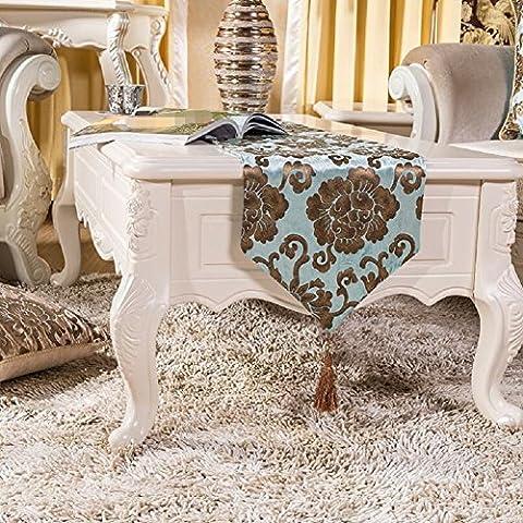 LD&P Europäische Luxus Bronze Druck Tisch Läufer Schlafzimmer Bett Flagge Thanksgiving, Weihnachten, Verlobung Dekoration Tisch (Schuhkarton-geschenke Für Weihnachten)