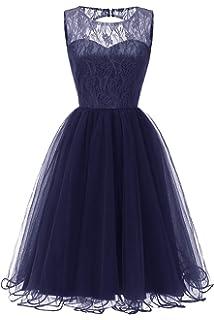79559bec975 MisShow Elegante Damen Vintage Retro Kleid Abendkleid Cocktailkleid Knielang  Gr.S-XXL