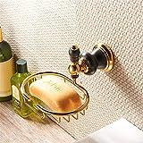 Bathone Europäisches all-black Altgold Metall Anhänger Kupfer Bad Seifenschale Seife Gitter Untergestelle Titan Messing Bad