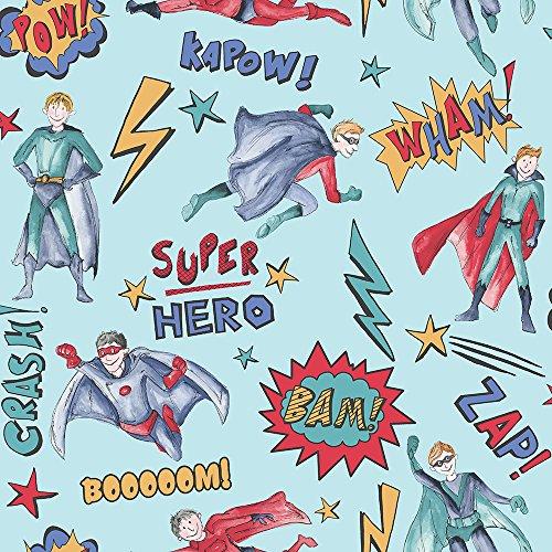 Arthouse blau multi Superheld Tapete Comic Thema Design (Superhelden Themen)
