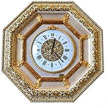 ITALIA CORNICI Wall Clock Reloj de pared clásico de cuarzo Marco de madera Decoraciones Salón Dormitorio